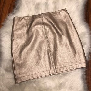 Metallic Faux Leather Hollister Skirt